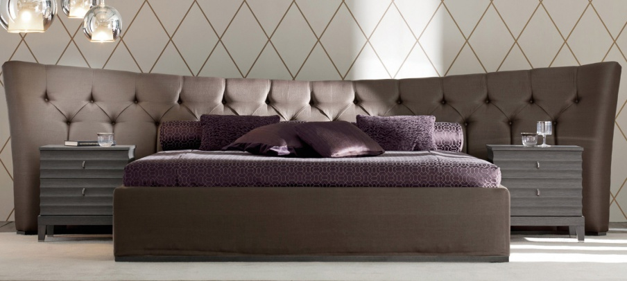 Bed with upholstered headboard Storage Butterfly,Opera Contemporary