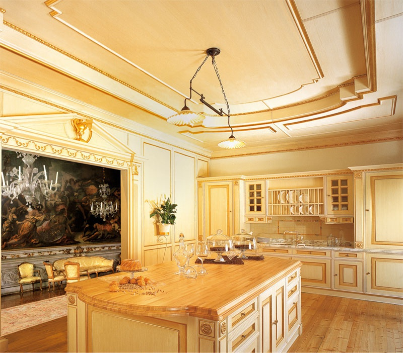 Kitchen Set Royal: Set For The Kitchen Made Of Solid Wood With The Island