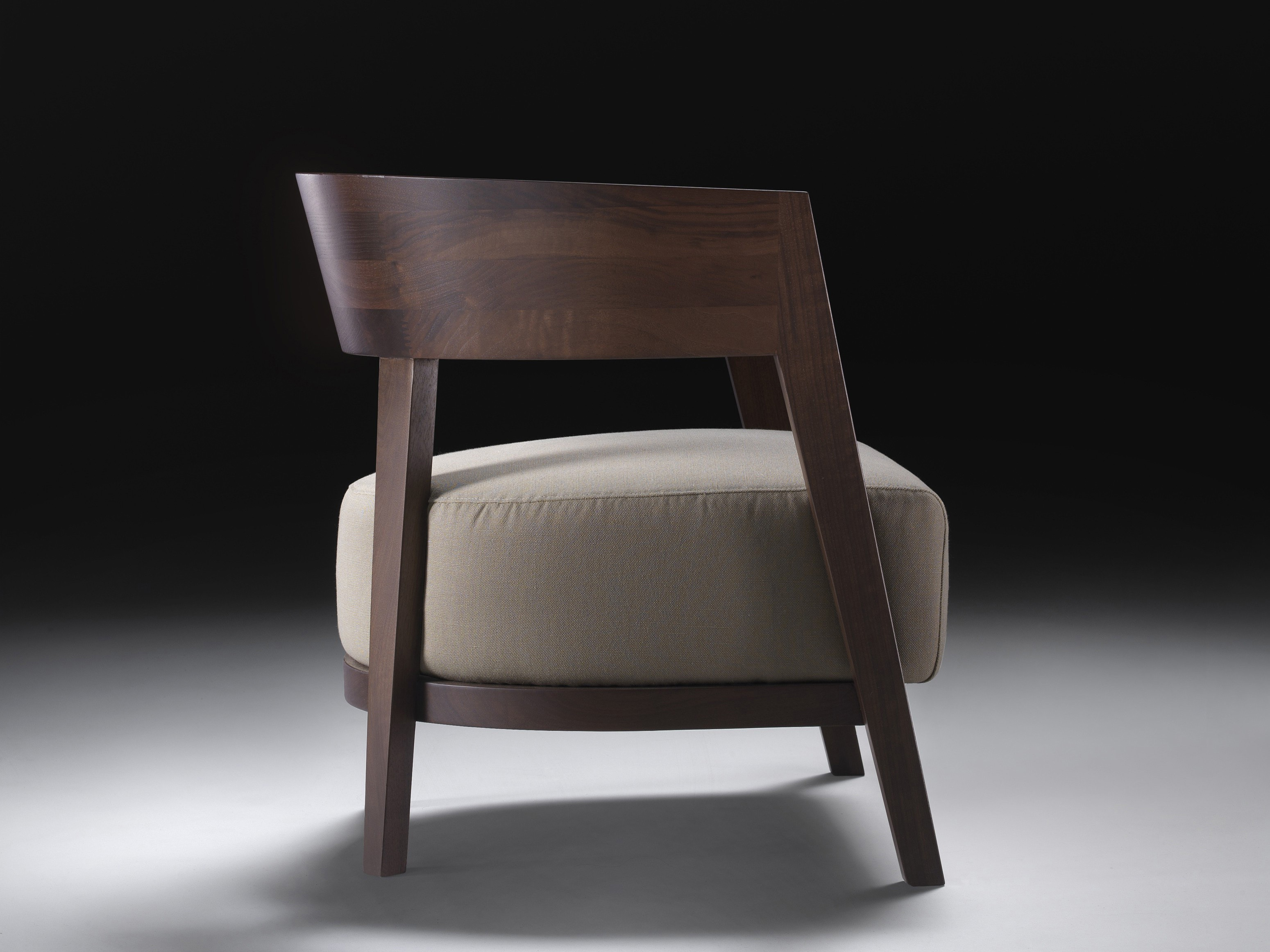 Chair With Wooden Backrest Antony Flexform Luxury