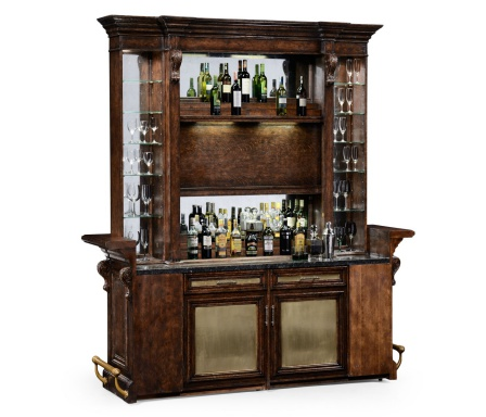 Bar Cabinet Tudor Oak