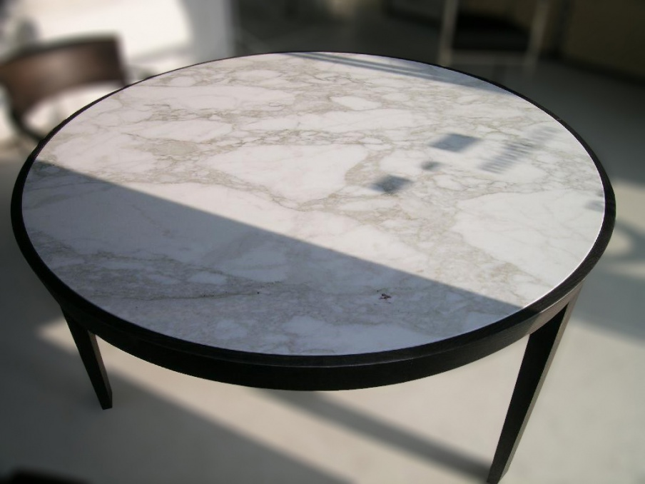 Dining table with marble top Dida, Flexform