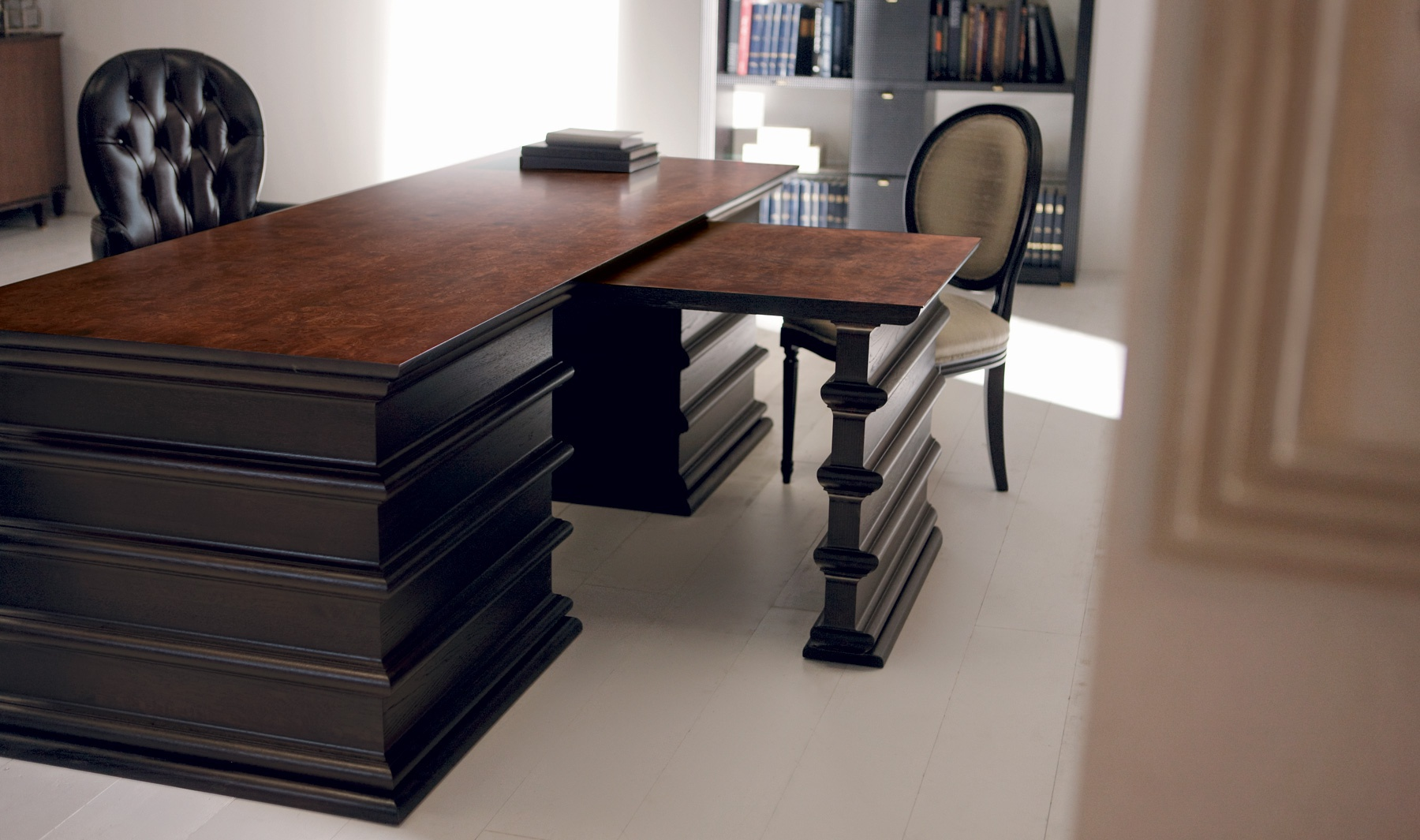 desk with slide out console manon angelo cappellini. Black Bedroom Furniture Sets. Home Design Ideas