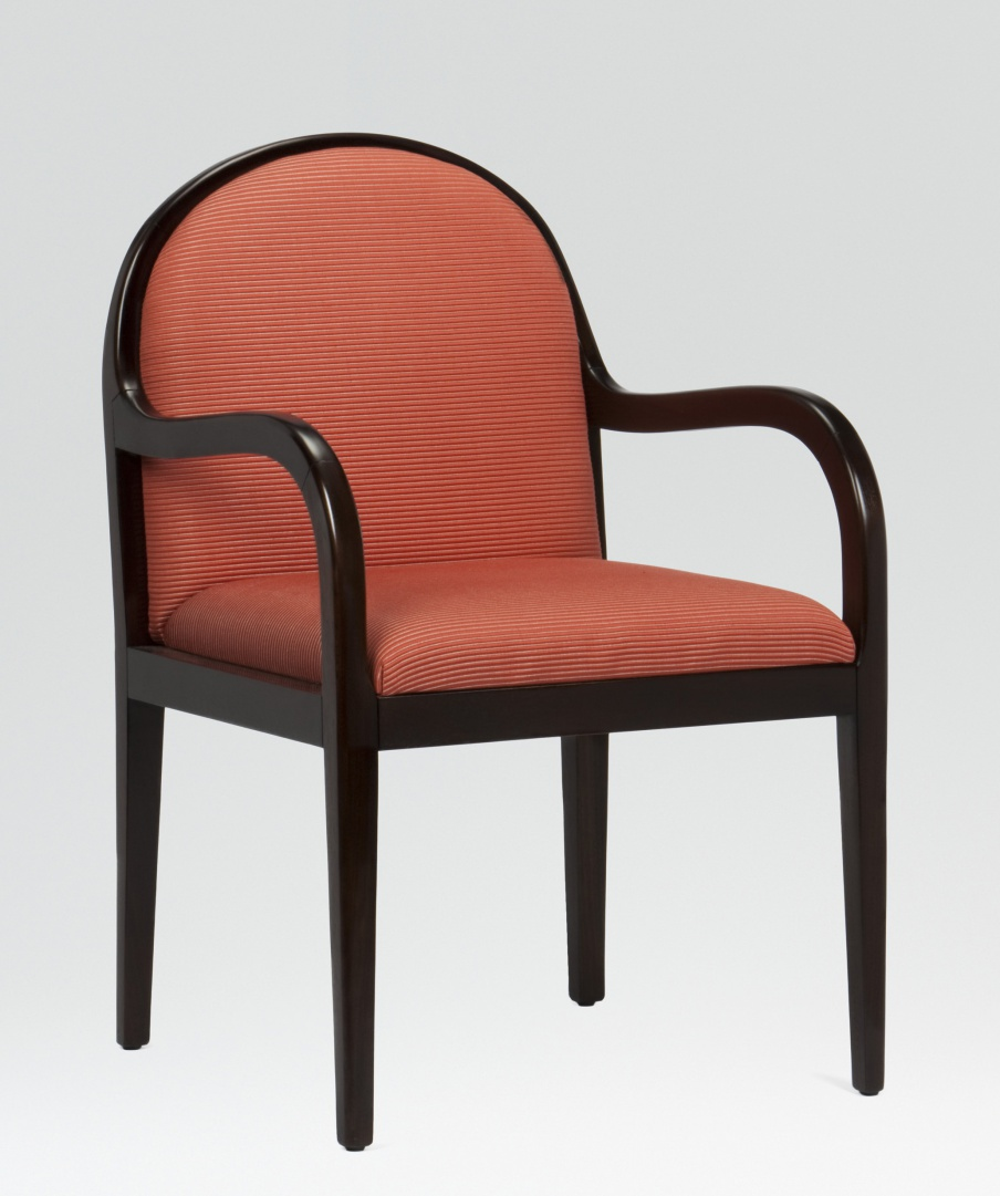 Chair with high back and armrests Butler Armani Casa