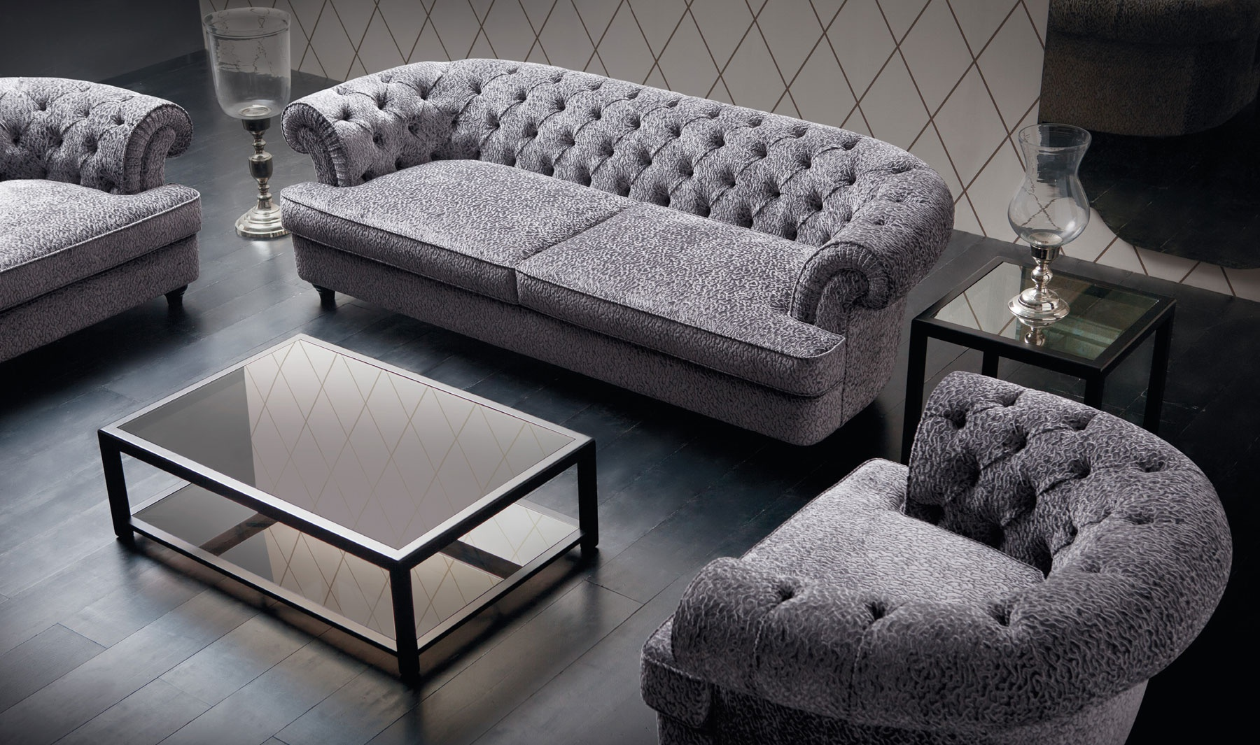 The Semicircular Sofa With Tufted Back Soft Lisette