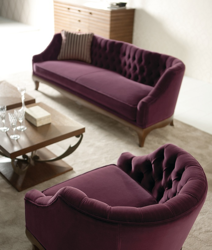 Sofa on figured legs Classic Margherita, Angelo Cappellini