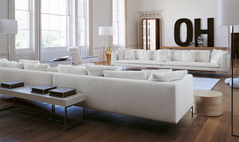 Four Seater Sofa Charles Large By Bb Italia Luxury Furniture Mr