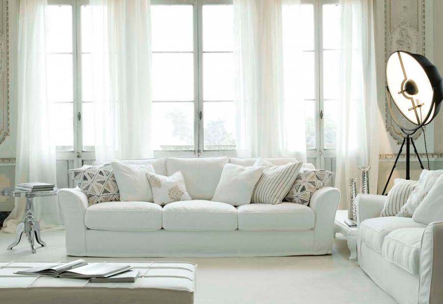 Two-seater sofa in fabric Vittoriano, Ville Venete - Luxury furniture MR