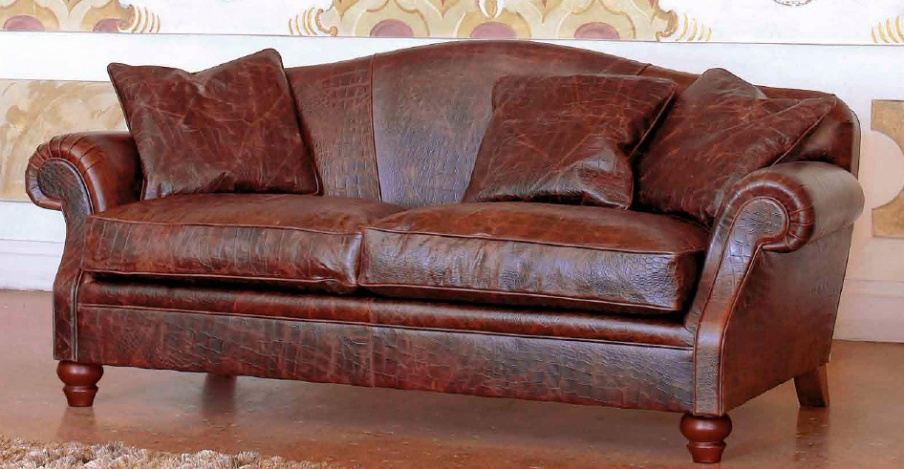Two seater sofa in leather upholstery rubens ville for Furniture ville