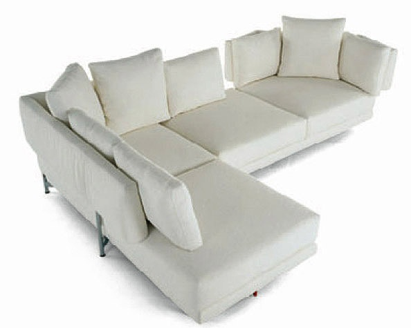 Modular Corner Sofa Upholstered In Leather Or Fabric HFST