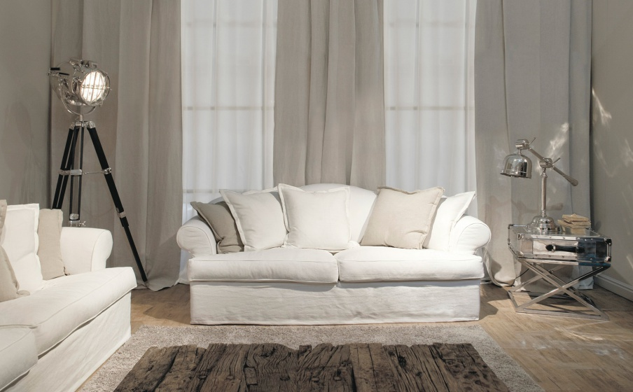 Two-seater sofa with removable cushions Vittoriano Easy, Ville ...