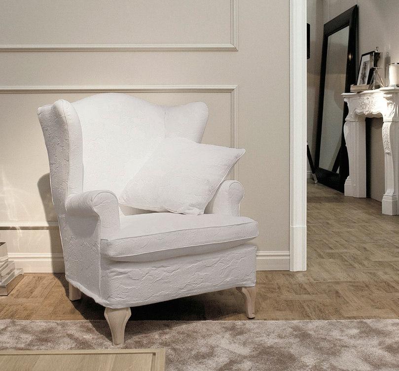 Chair with shaped high back Hampton, Ville Venete - Luxury furniture MR