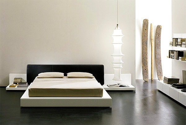 Bed with upholstered headboard Enea, EmmeBi