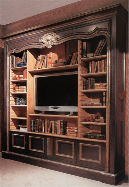 Charmant Library Cabinet For TV , Provasi