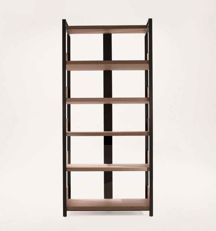 Bookcase Eracle Bookcase shelves solid wood, metal frame B ...