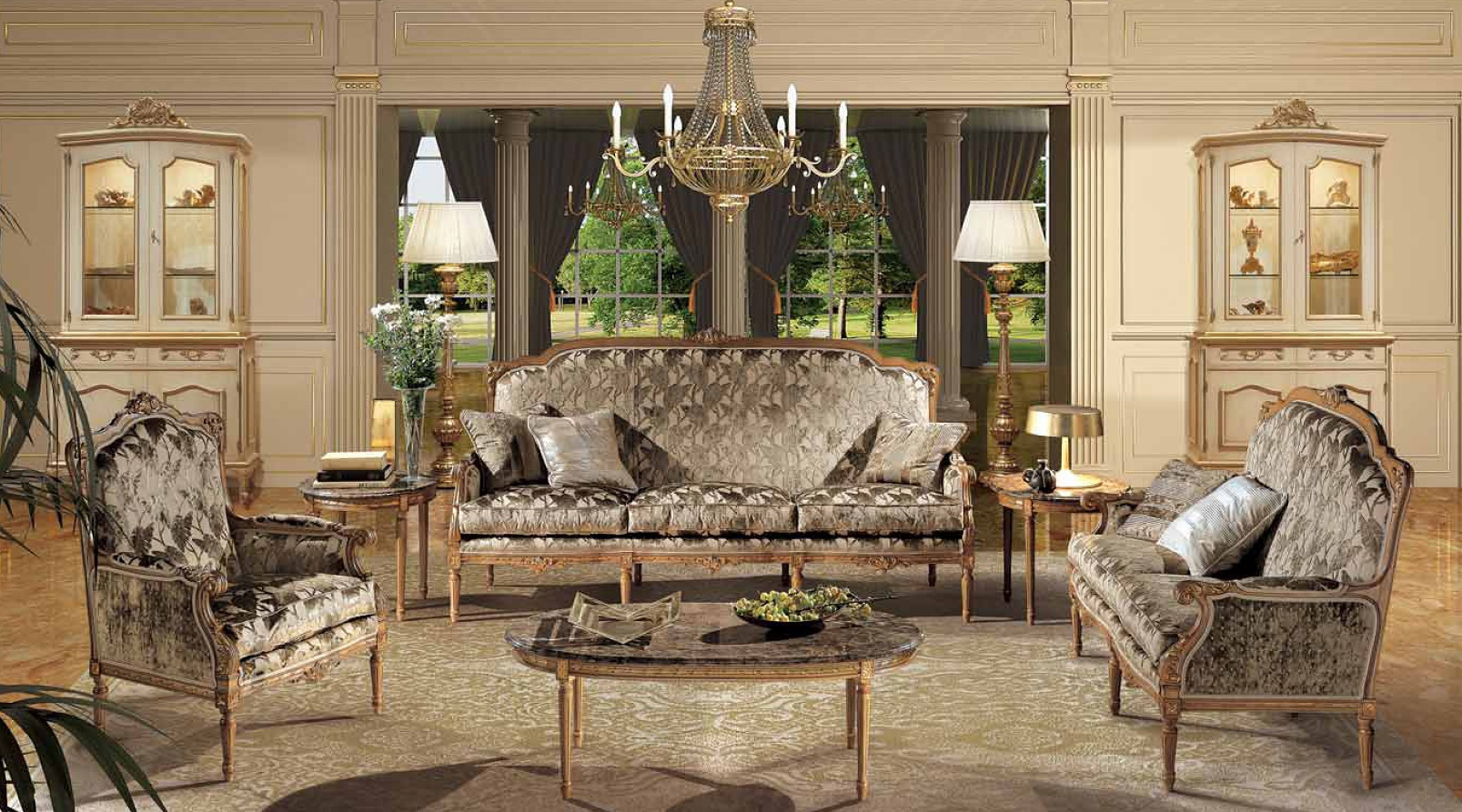 Living room sofa set monti angelo cappellini luxury for Italienische couch