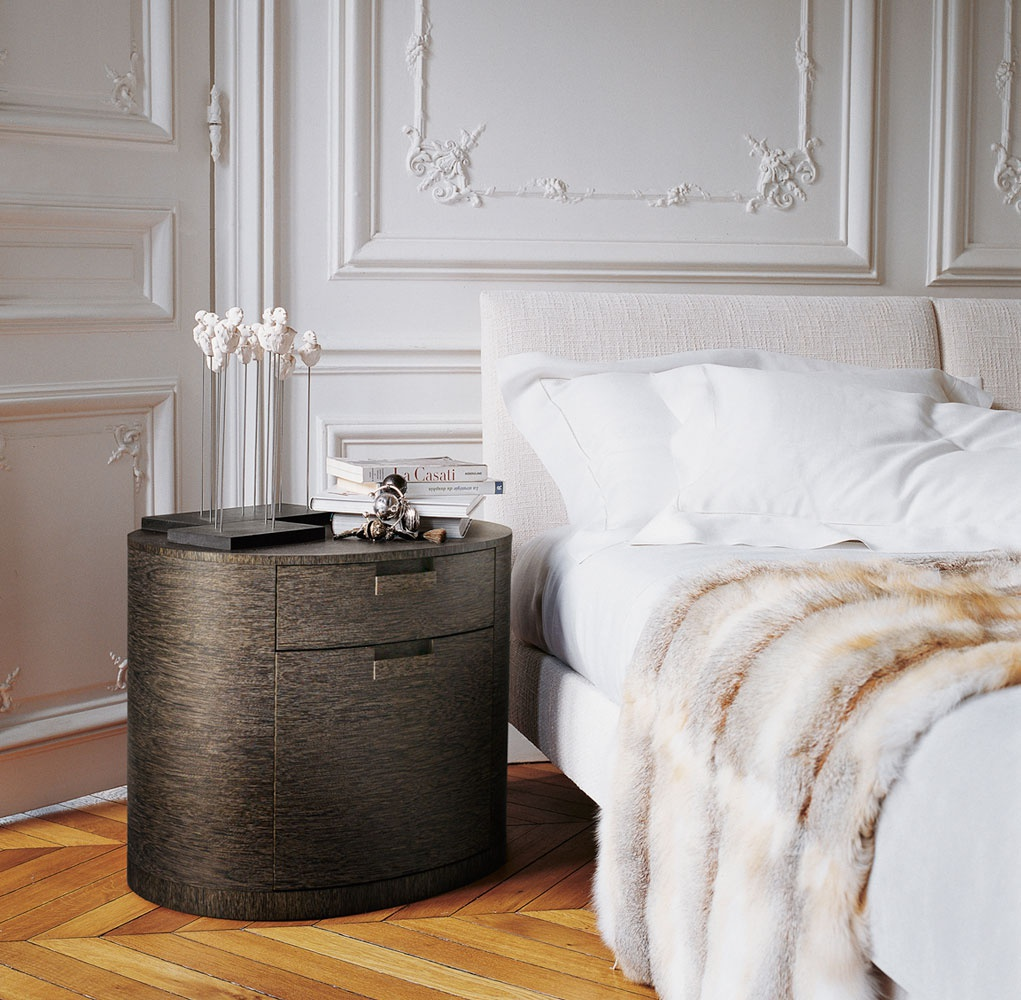 L Anfora Rattan Amphoren Lounge.Compact Bedside Table Amphora Of Oval Form With Two Boxes Of