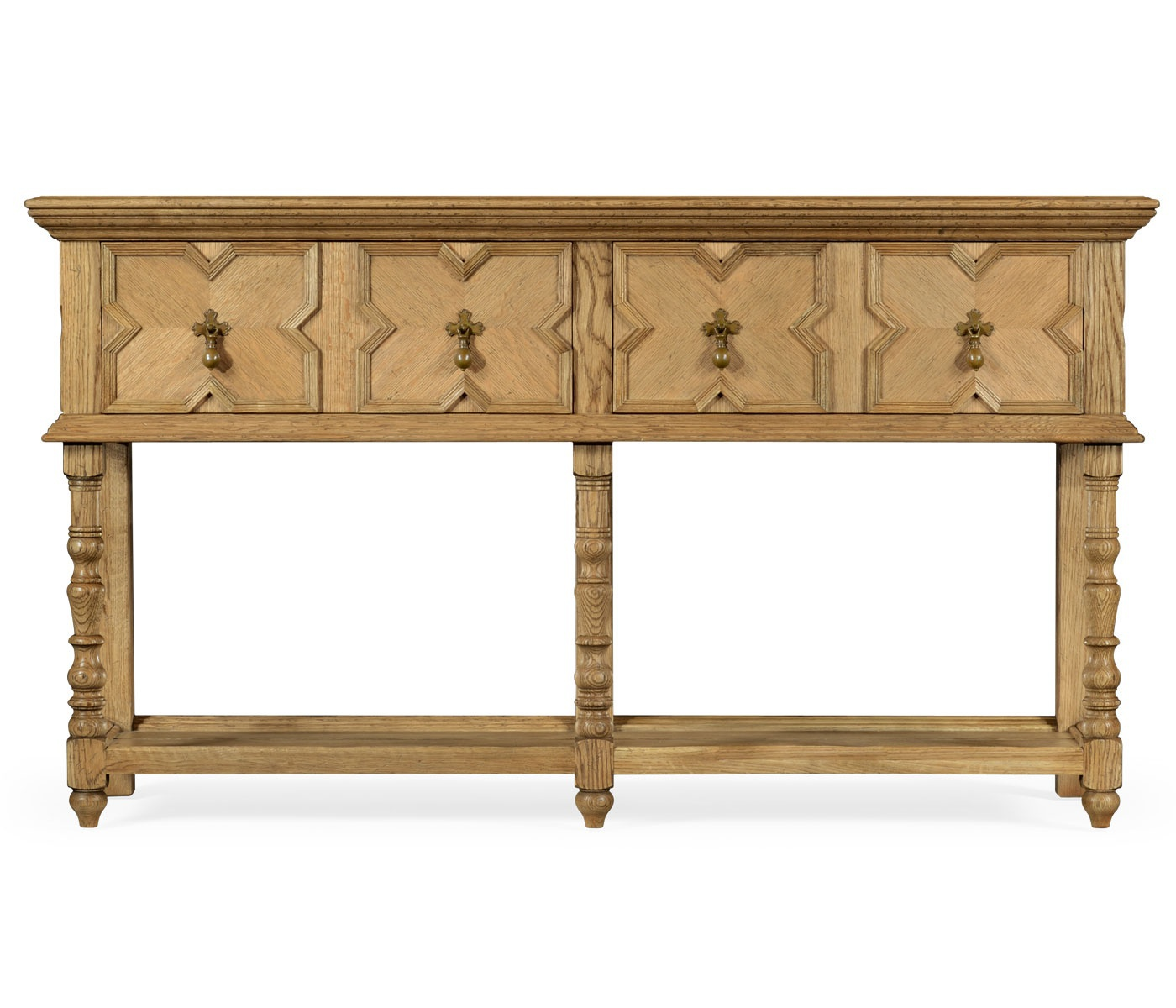 Kitchen table with drawers Natural Oak Jonathan Charles