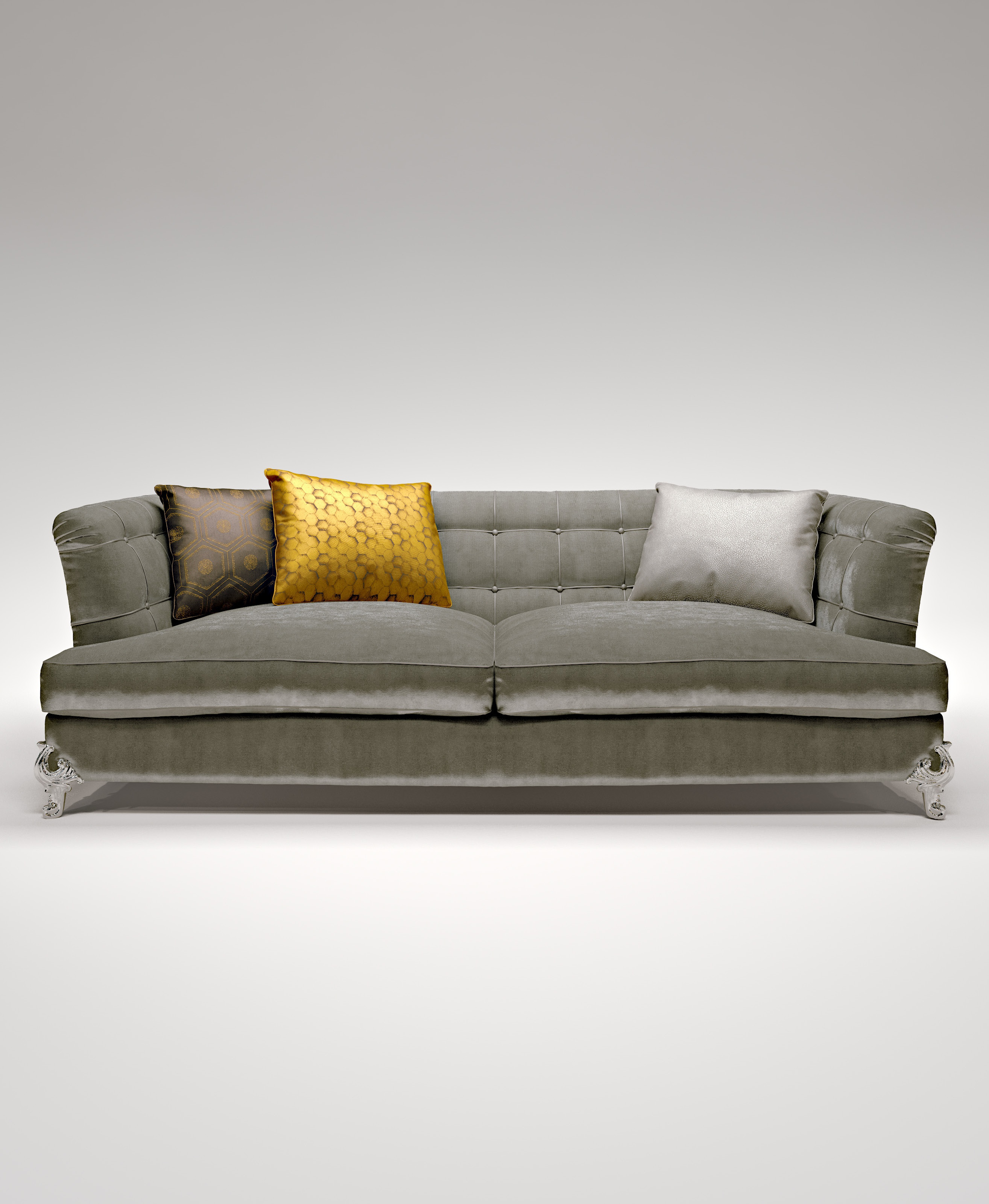 Double King sofa frame made of solid wood Bruno Zampa Luxury