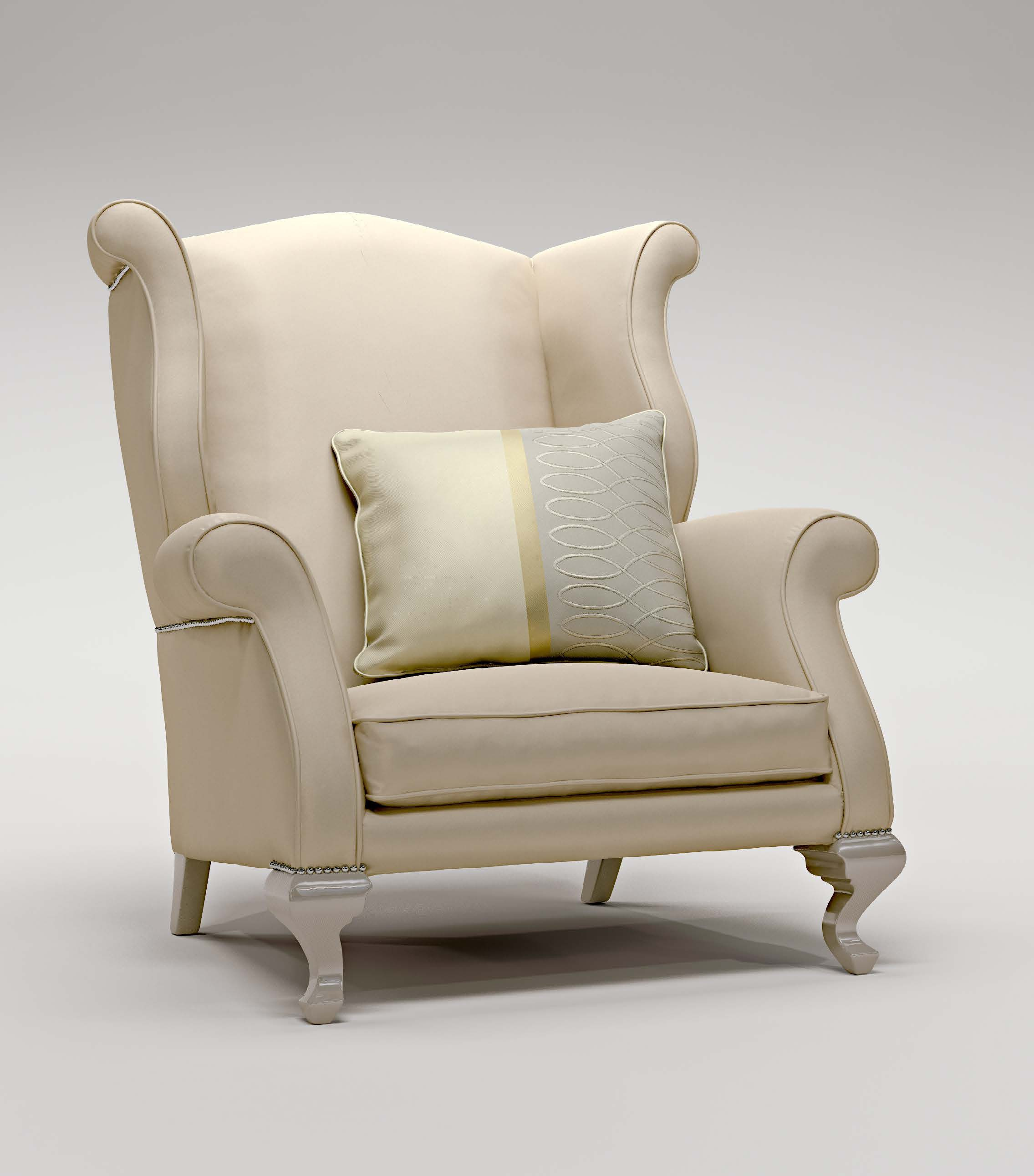 The Cecilia chair frame made of natural wood Bruno Zampa Luxury