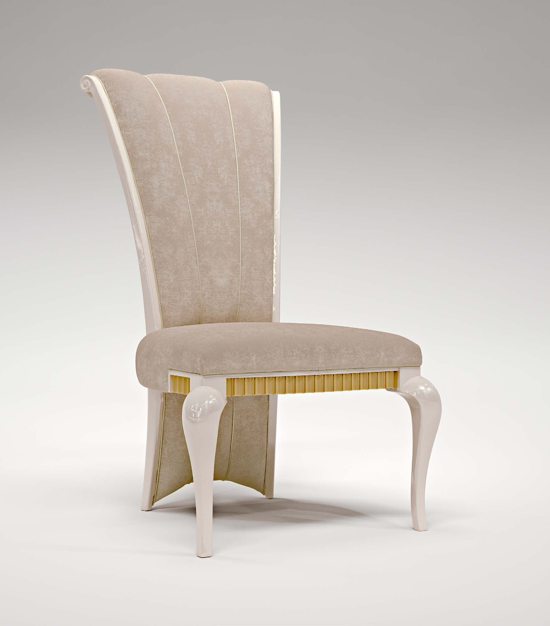 Chair with high back Club frame solid wood Bruno Zampa Luxury