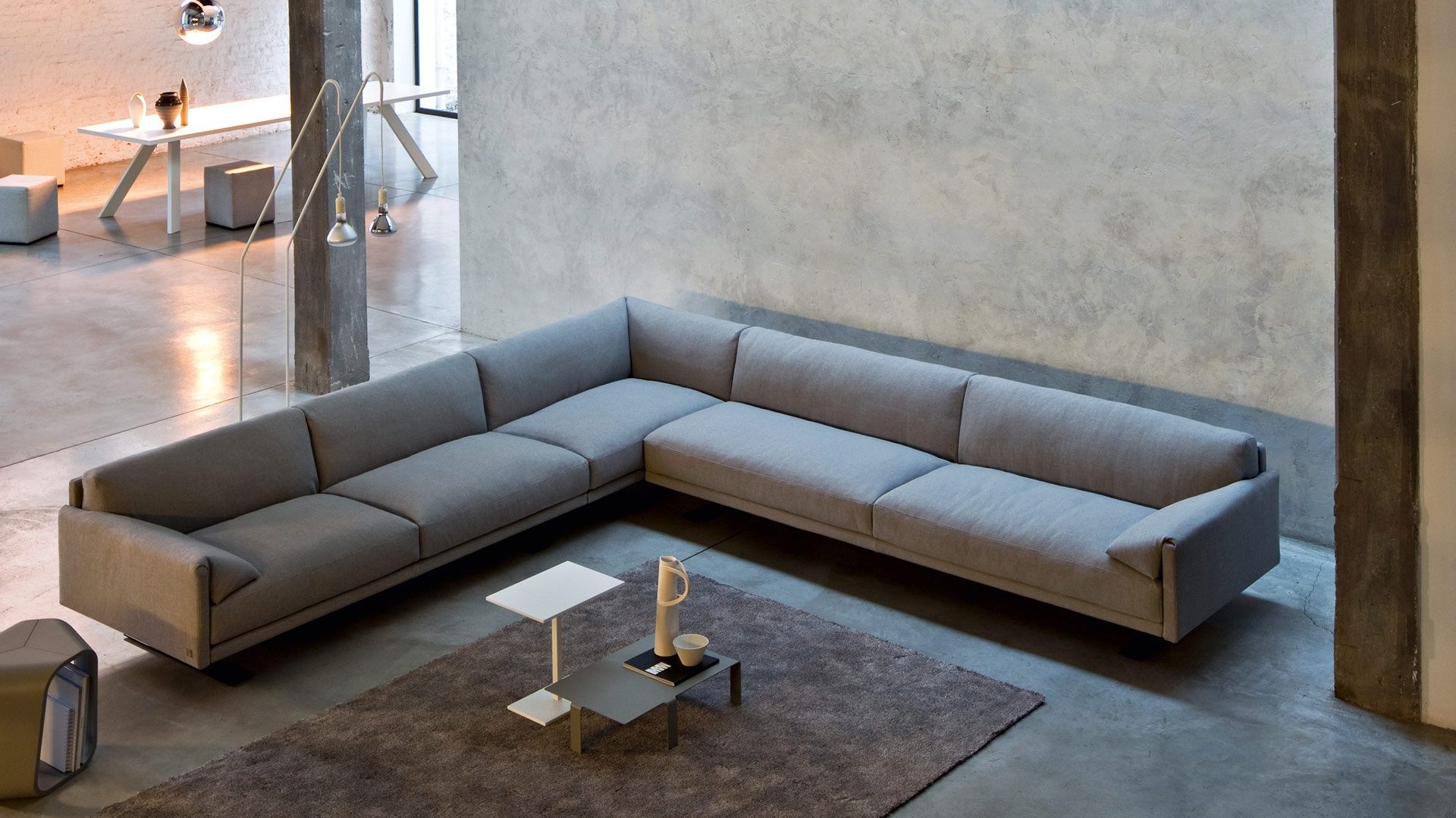 Chicago modular sofa with metal frame Busnelli Luxury furniture MR