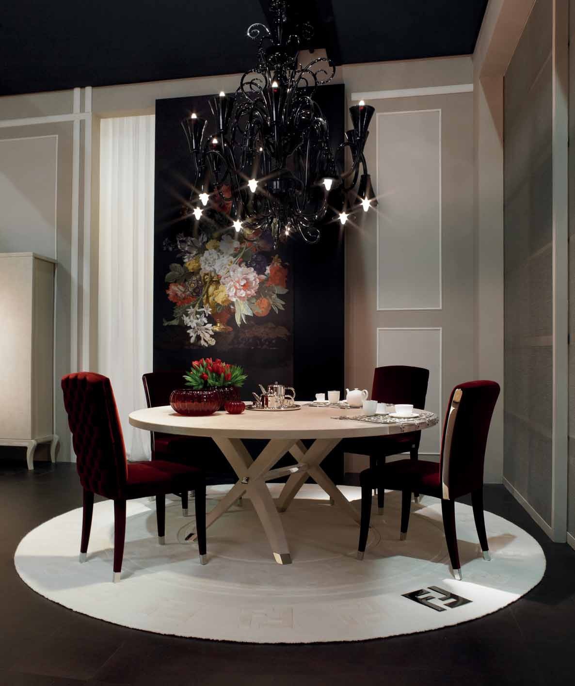 Dining Room Supervisor Job Description: Brunello Dining Table With Round Wooden Top, Fendi