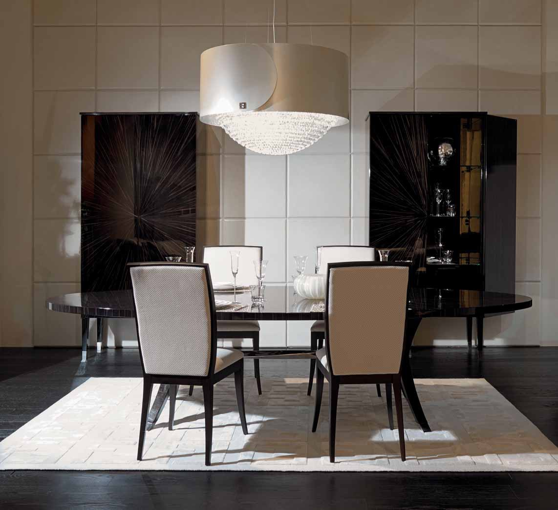 Brunello dining table with oval marble top Fendi Luxury