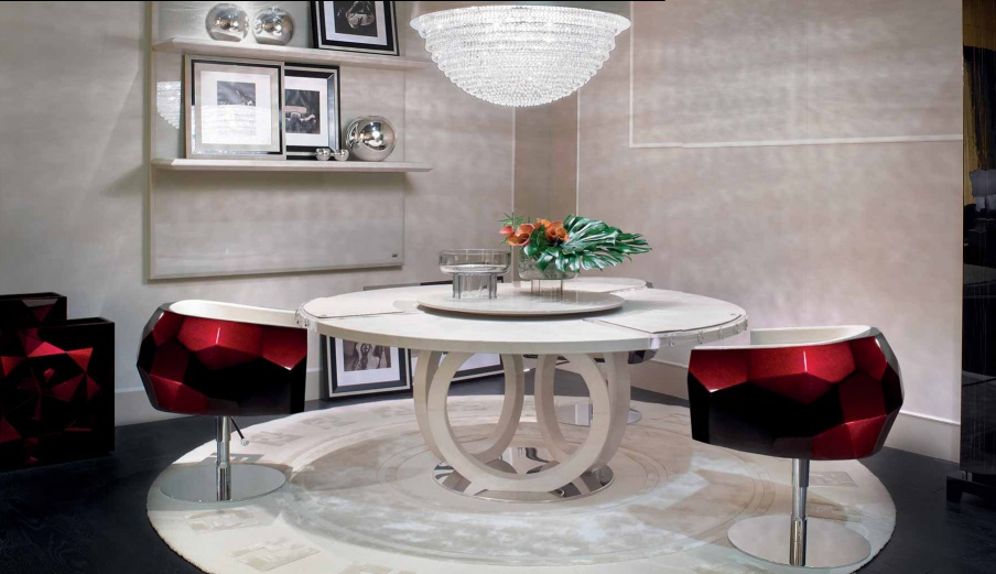 Dining Round Table Galileo Fendi Luxury Furniture Mr