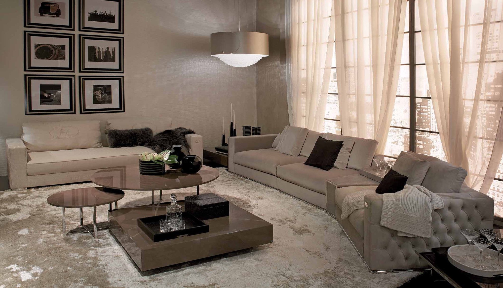 Modular Sofa In Leather Upholstery Plaza Fendi Luxury Furniture Mr