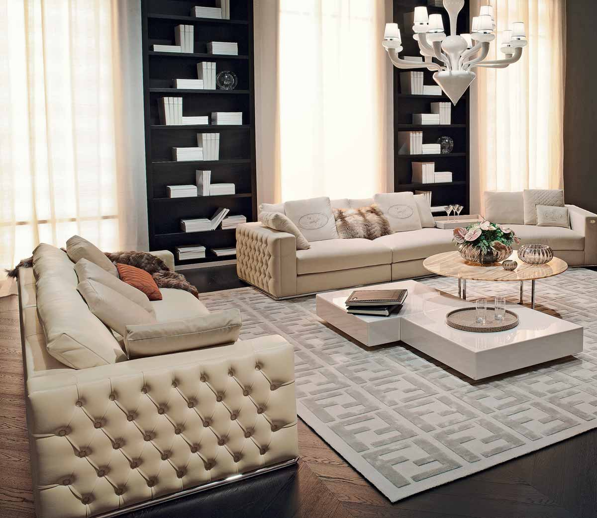 Sofa In Leather Or Textile Upholstery Plaza, Fendi