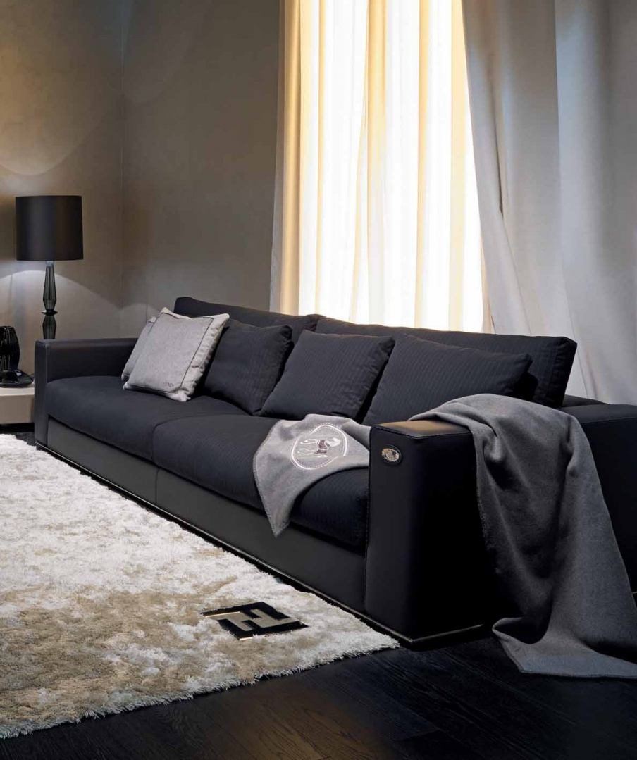 Four Seater Sofa Opera With A Frame Made Of Natural Wood