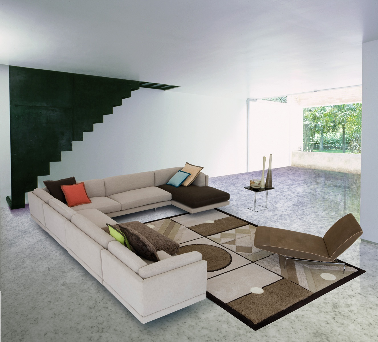 Modular Sofa With Metal Legs Galaxy, Il Loft