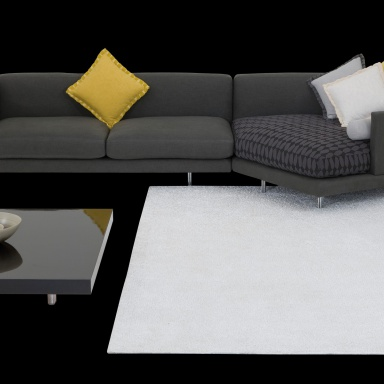 Modular Sofa On Low Legs Of Steel Galaxy Il Loft Luxury