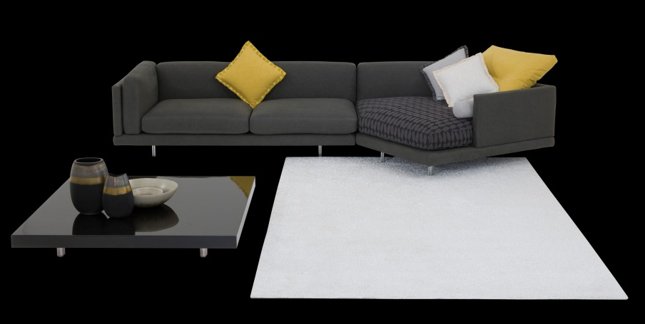 Modular Sofa On Low Legs Of Steel Galaxy Il Loft Luxury Furniture Mr