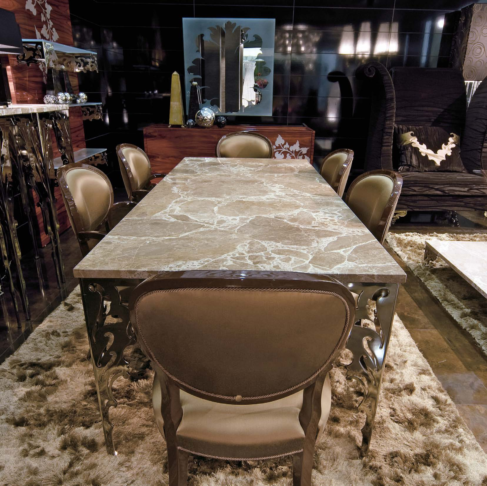 Dining Room Supervisor Job Description: Arabesque Dining Table With Metal Legs, JC Passion