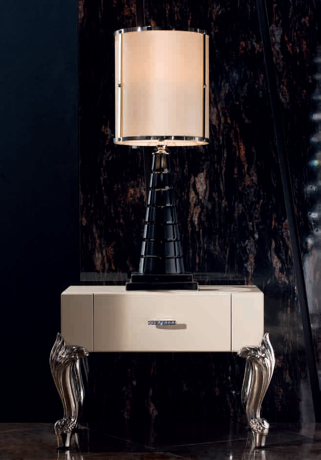 Bedside table with metal legs queen jc passion luxury for Table passion