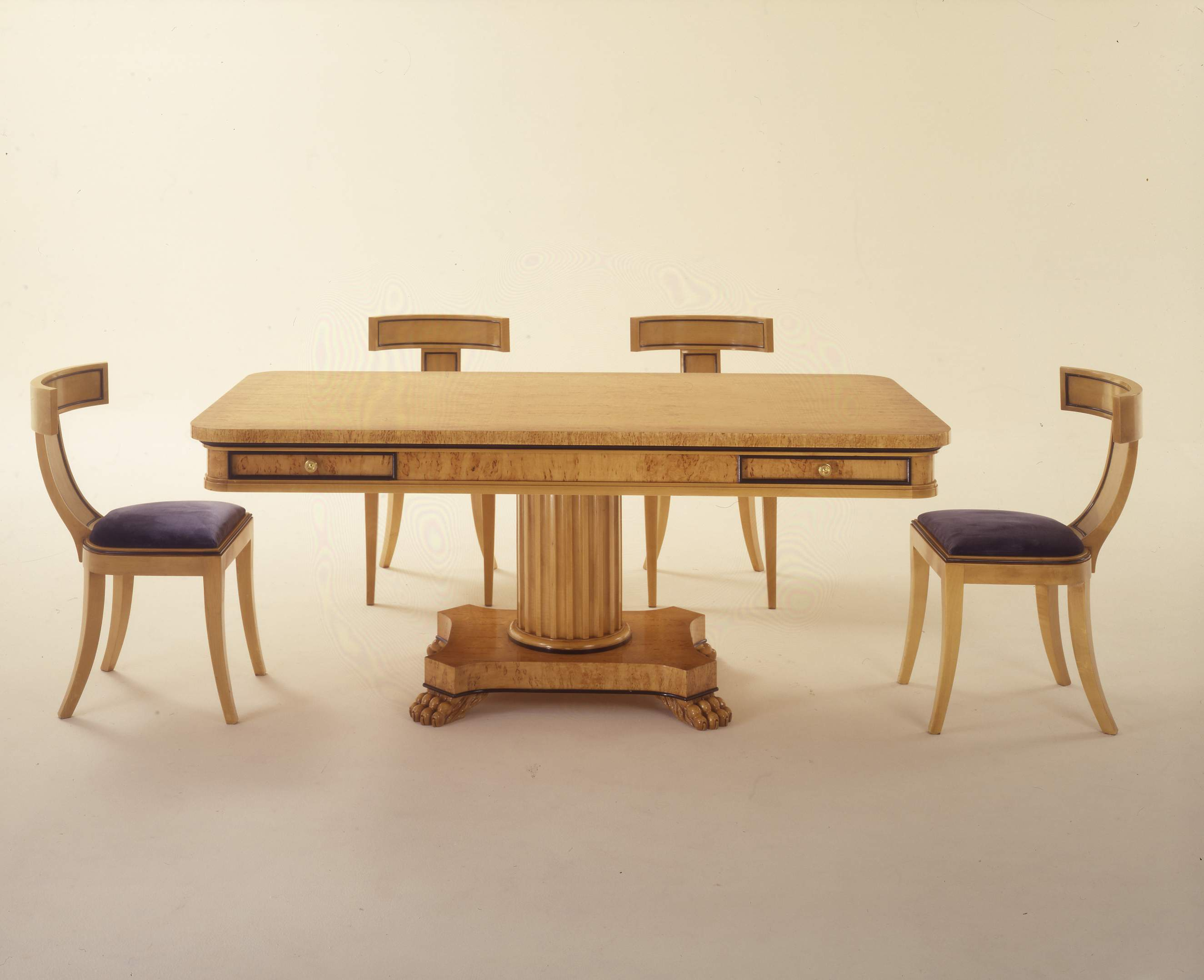 Dining Table Natural Wood Wien Colombo Stile Luxury Furniture