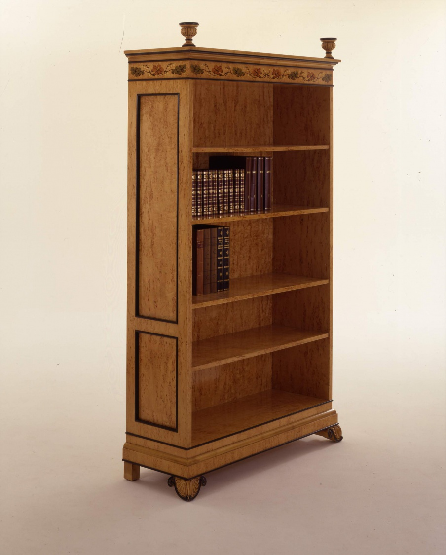 Bookcase Natural Wood Wien, Colombo Stile