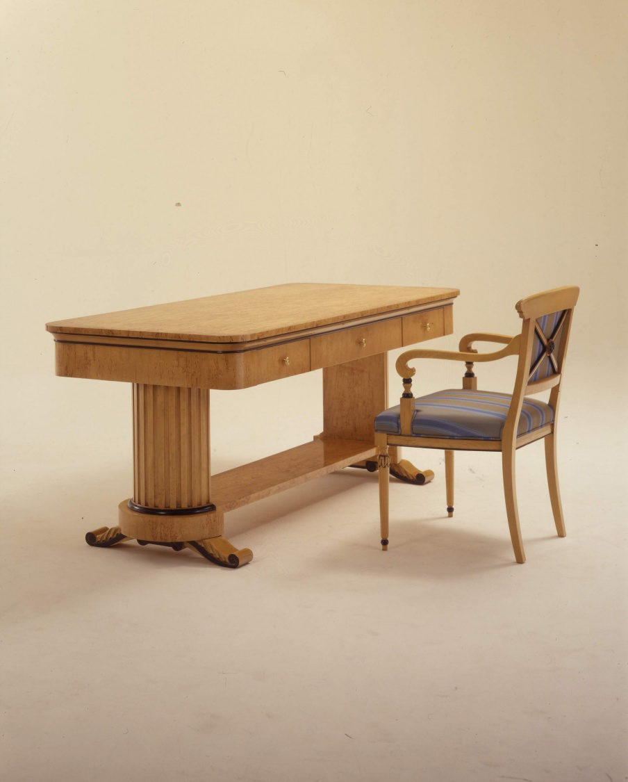Dining Table Natural Wood Wien Colombo Stile Luxury Furniture Mr