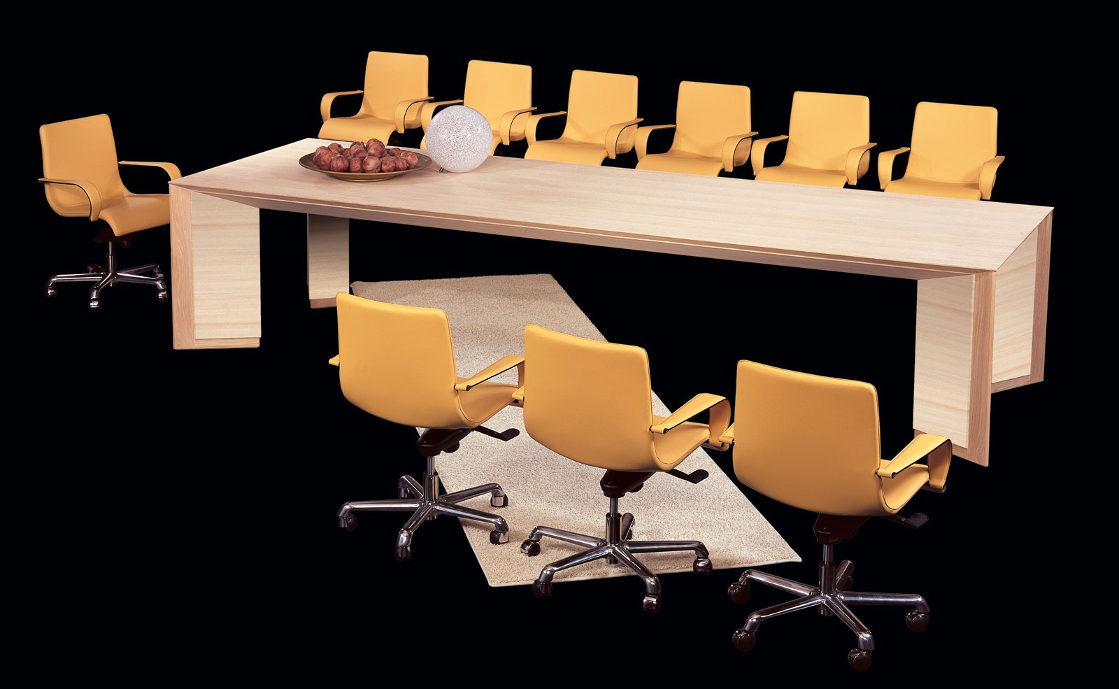 The riga tavolo rectangular table for conference halls il for Furniture riga