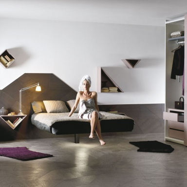 double floating bed fluttua r lago
