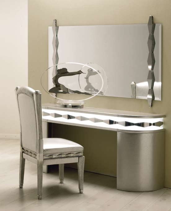 Oro dressing table made of steel and plexiglass for Beauty parlour dressing table images