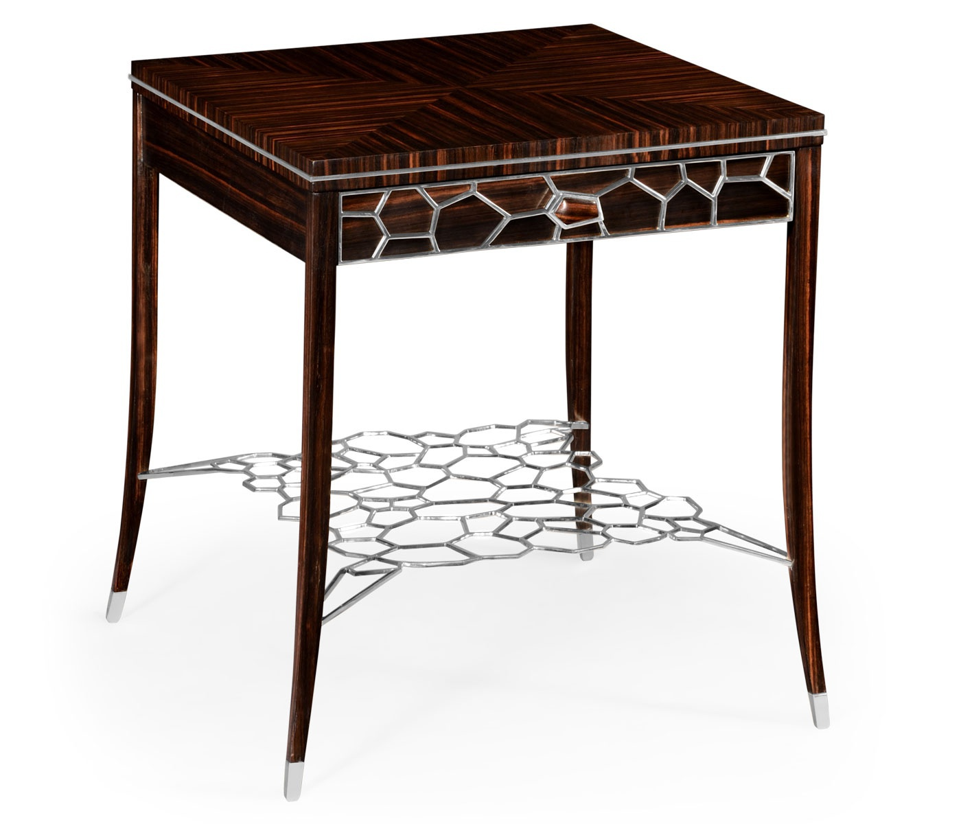 Table With Drawer And Shelf, Made Of Brass Soho, Jonathan