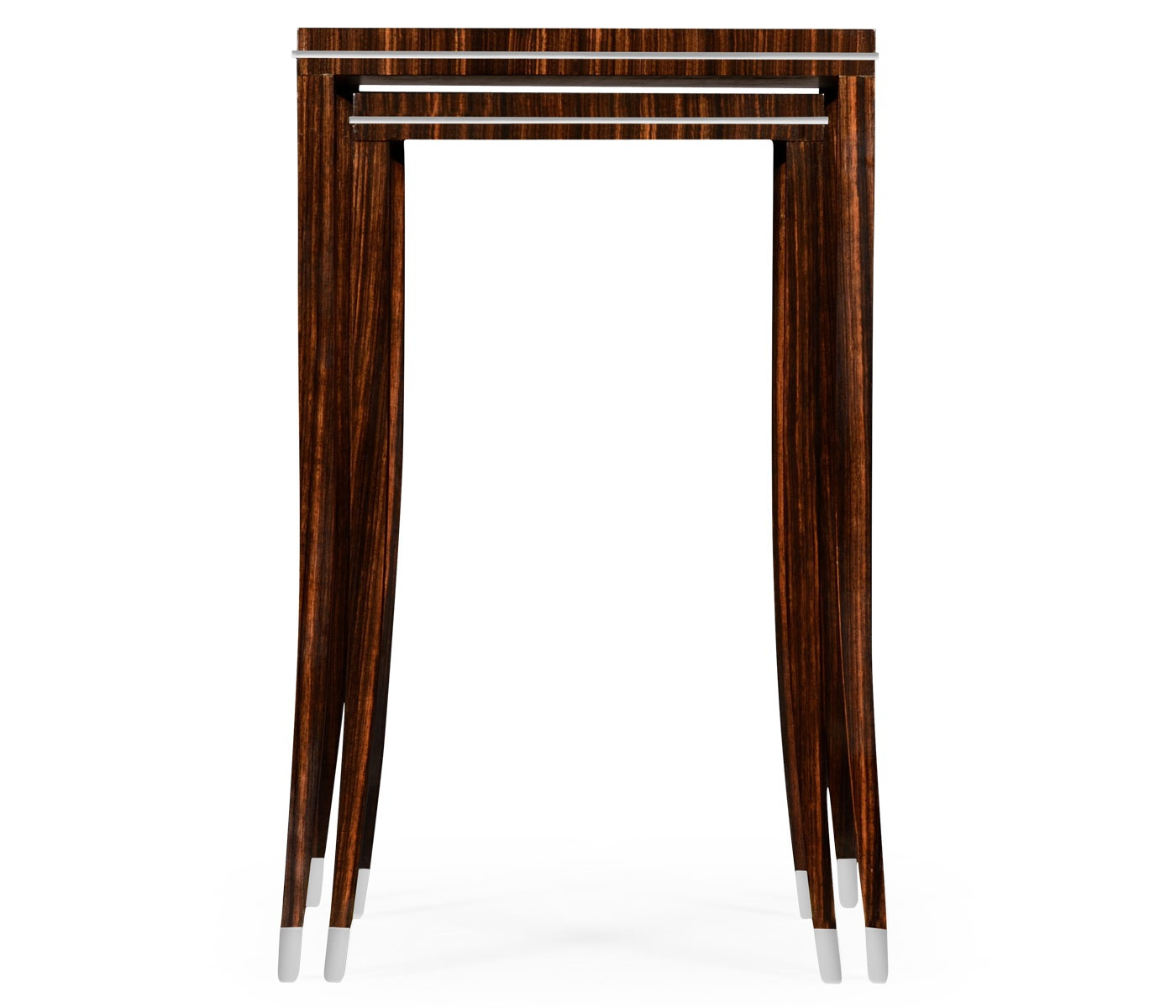 Coffee Table On High Curved Legs With Brass Ferrules Soho