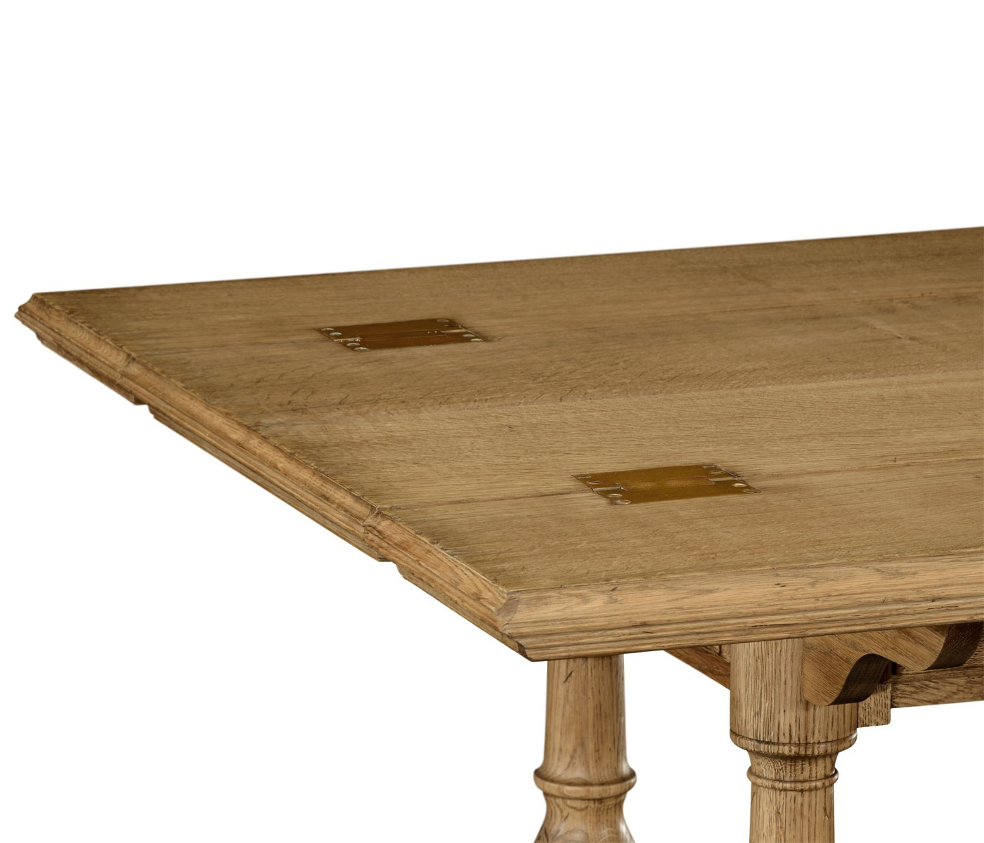 Folding Dining Table With Drawers Natural Oak Jonathan Charles Luxury Furn