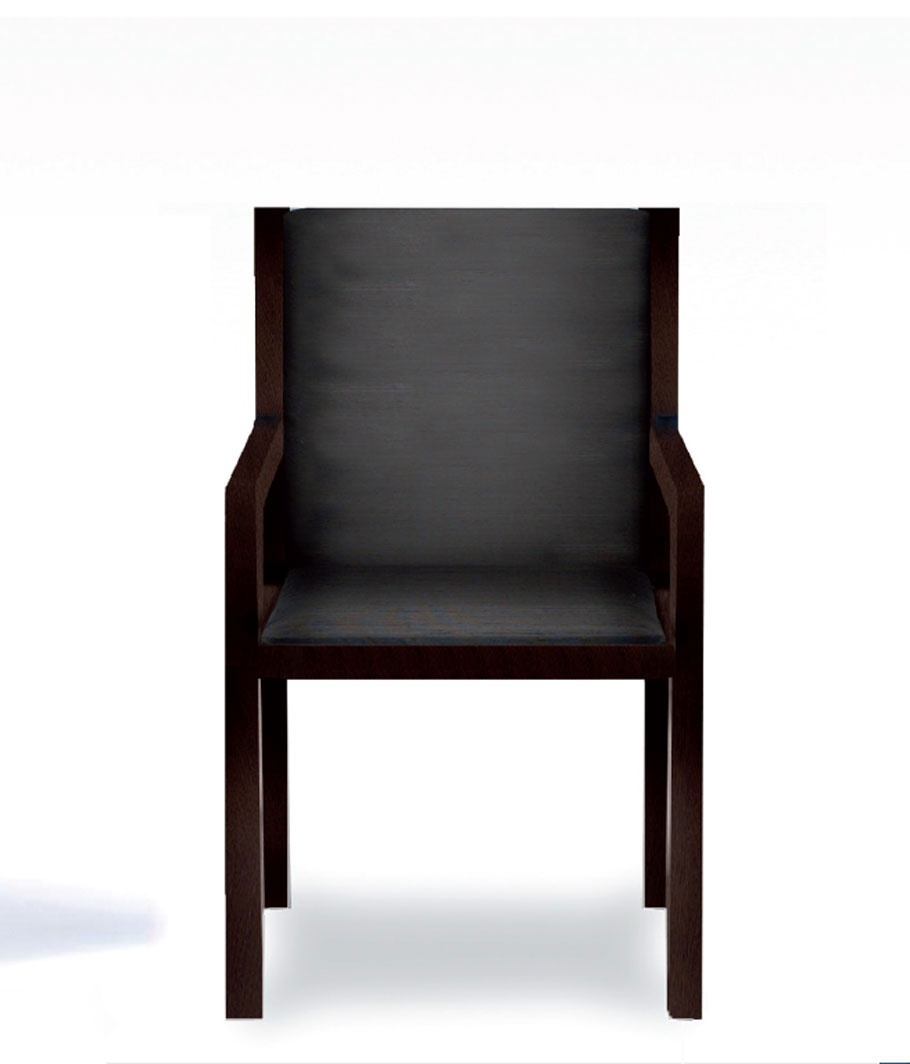 Chair with armrests upholstered back Rima Armani Casa