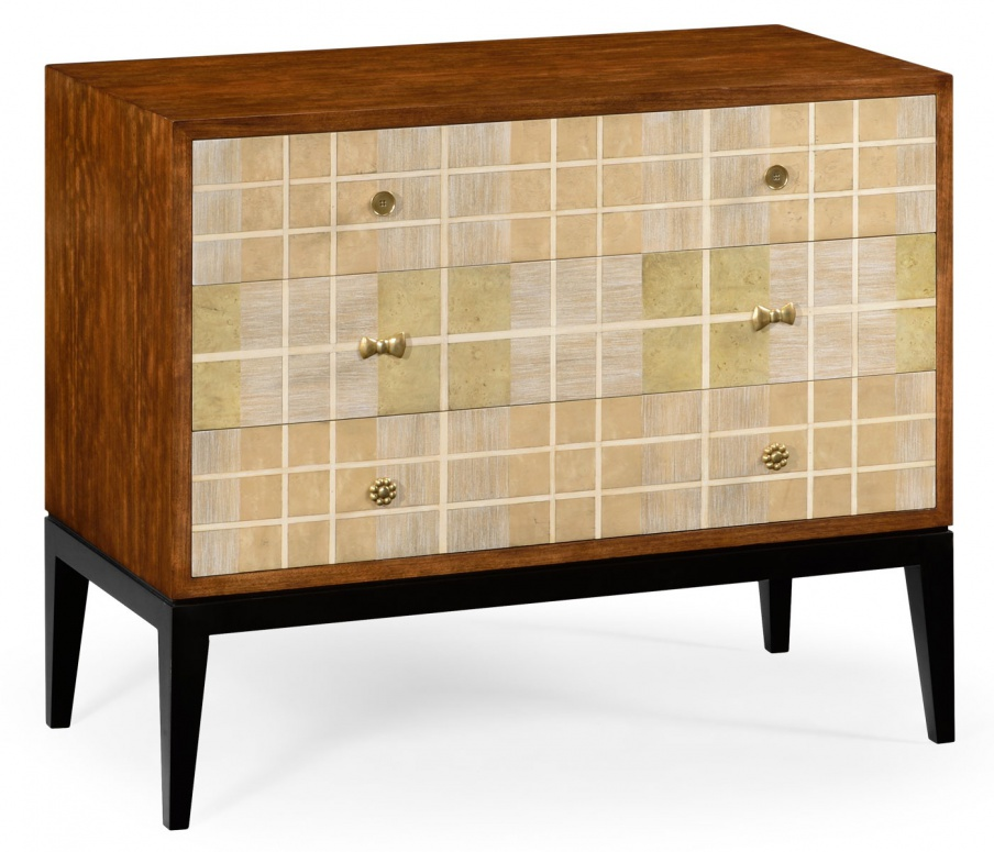 A Chest Of Drawers On High Legs Tartan Jonathan Charles