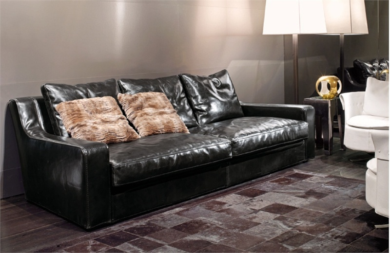 Prime Modular Corner Sofa Upholstered In Leather Or Fabric Baron Longhi Evergreenethics Interior Chair Design Evergreenethicsorg