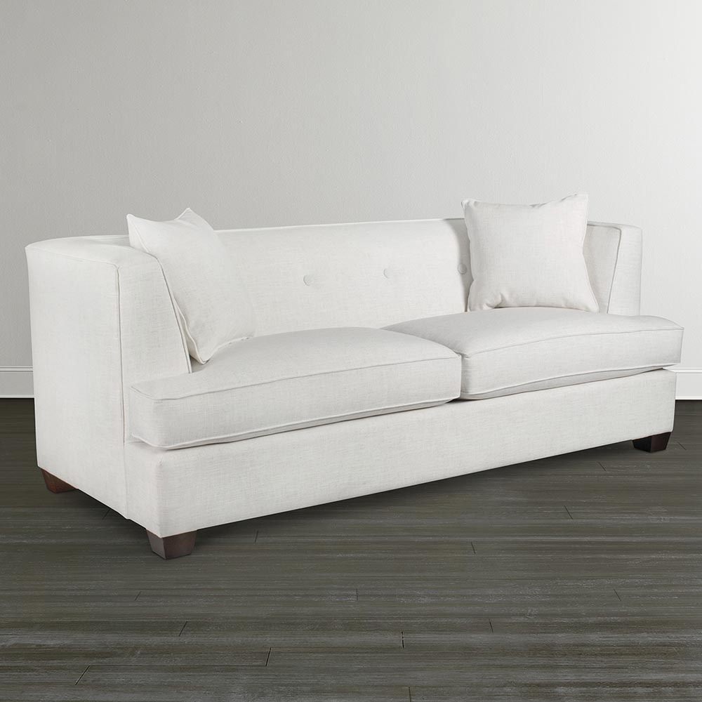 Two Seater Sofa With Low Backrest