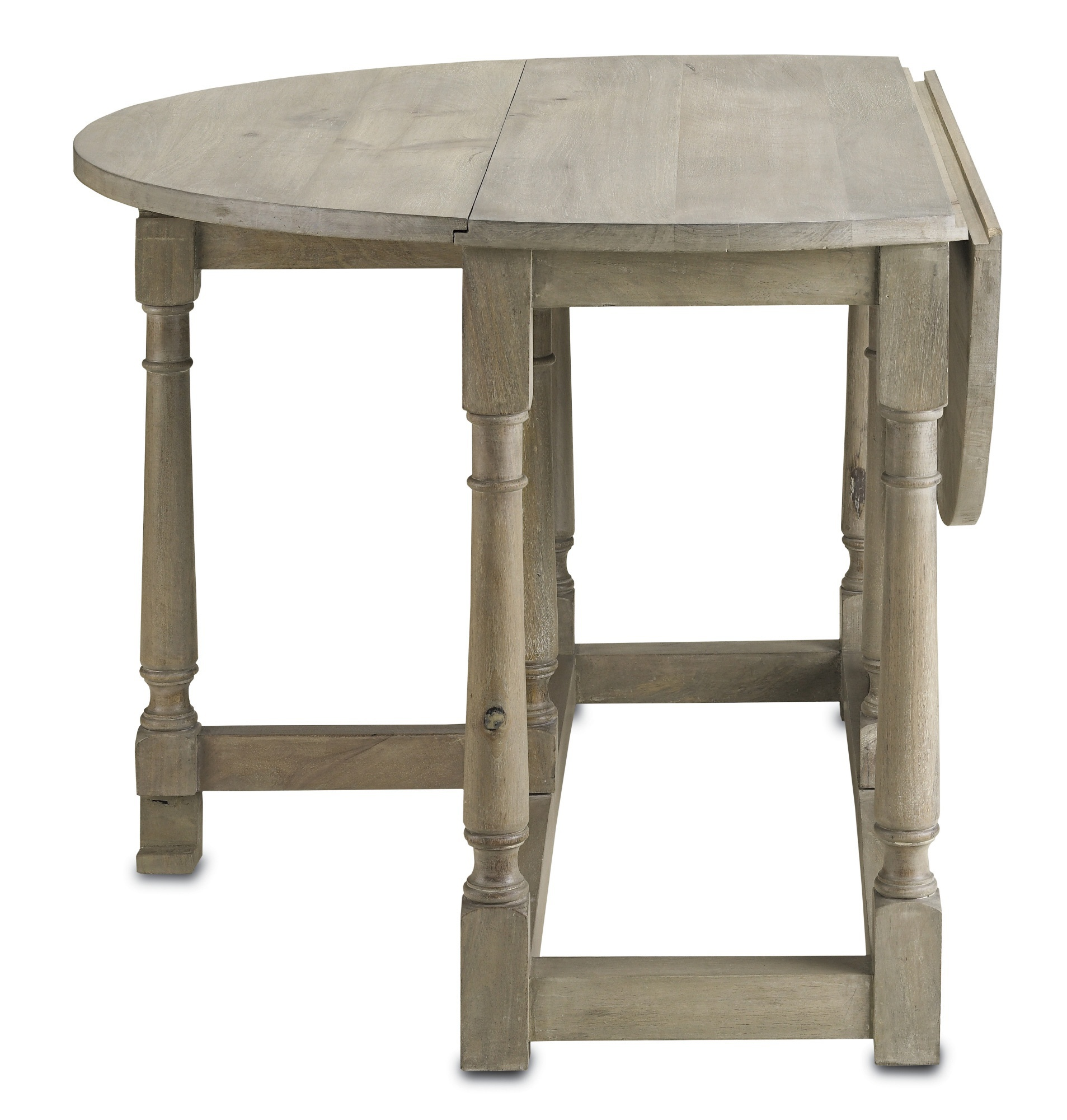 Table round foldable Garrison natural wood Currey